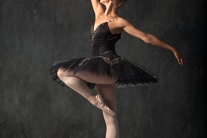 Young beautiful ballerina