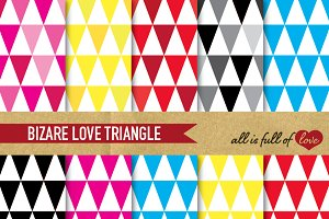 Triangles Digital Patterns Backdrop