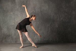 blonde woman balerina