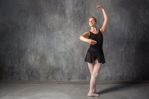 blonde woman balerina
