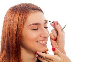 Close-up make-up artist