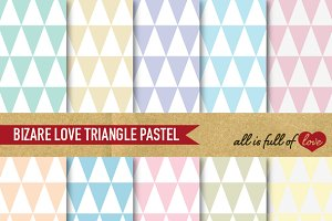 Triangles Patterns Pastel Paper