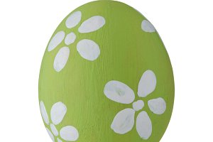 Green pastel Easter egg isolated