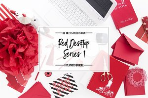 Red Desktop Photo Bundle Series 1