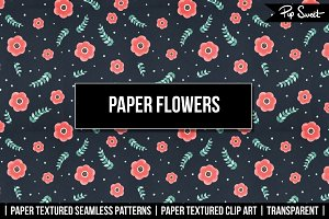 Paper Flowers Clip Art & Patterns