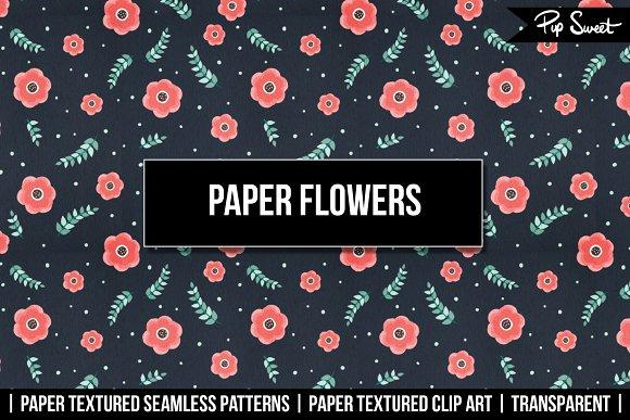Paper Flowers Clip Art & Patterns