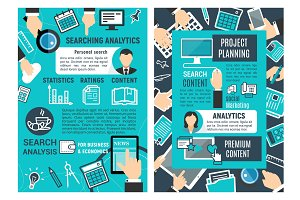 Web analytic infographic design