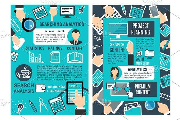 Web analytic infographic design