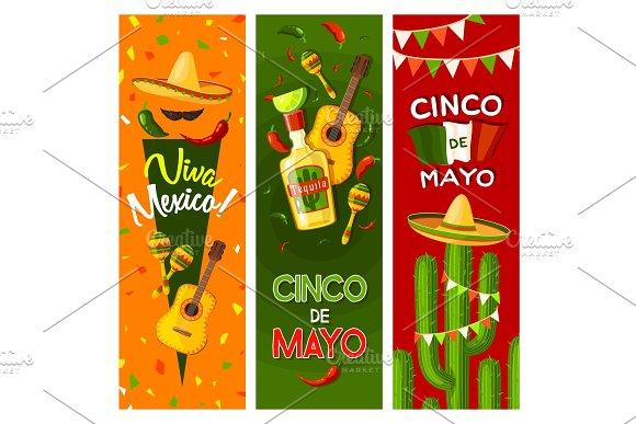 Cinco de mayo mexican fiesta party greeting banner illustrations cinco de mayo mexican fiesta party greeting banner illustrations m4hsunfo