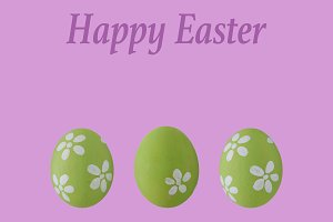 Green pastel Easter egg