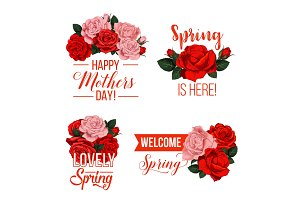 Vector springtime or Mother day floral icons