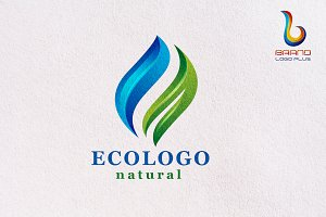 Eco Logo Templates | Leaves & Water
