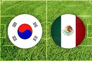 South Korea vs Mexico football match