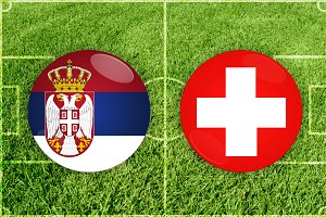 Serbia vs Switzerland football match