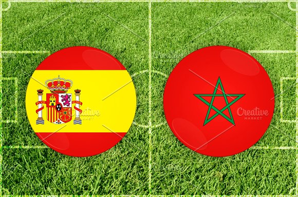 Spain Vs Morocco Football Match