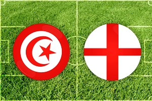 Tunis vs England football match
