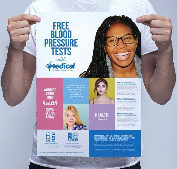 modern medical poster template flyer templates creative market
