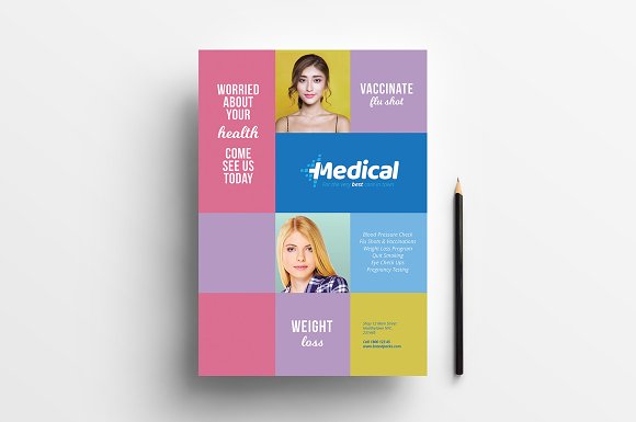 A4 Modern Medical Advertisement