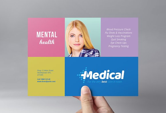 Modern Medical Flyer Template Flyer Templates Creative Market