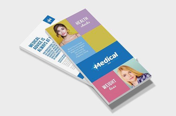 Modern Medical DL Rack Card Template