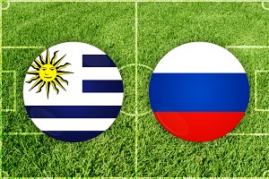 Uruguay vs Russia football match