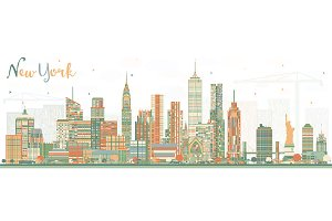 New York USA Skyline