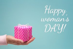 Happy woman's day greeting card