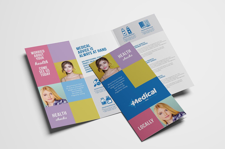 modern medical trifold brochure  brochure templates