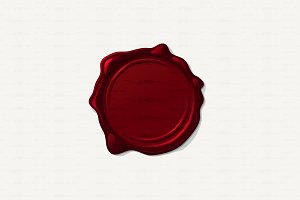 ♥ vector Wax seal