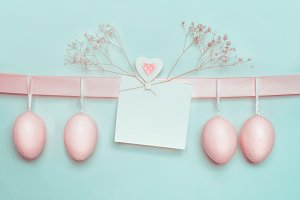 Easter greeting card mock up