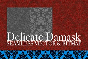 Vector/Bitmap Damask Seamless Tiles