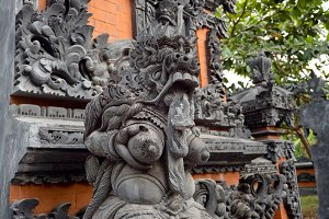 Hindu temple on Bali.