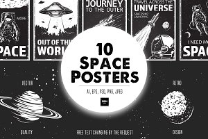 Set of Space Posters
