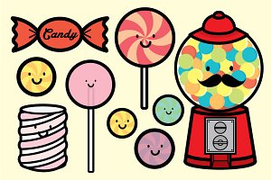 candy people vector