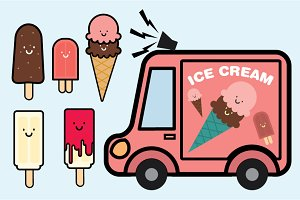 ice cream people vector