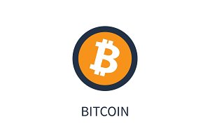 Bitcoin Cryptocurrency Icon Vector Illustration