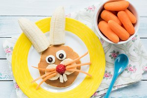 Easter Bunny Pancake For Kids