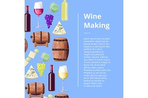 Exquisite Wine Making Process Promotional Poster