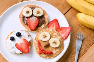 Pancakes breakfast for kids