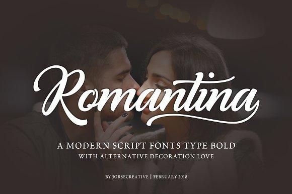 Romantina Font Script