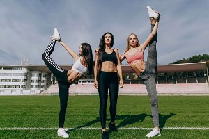 Women train together on the green