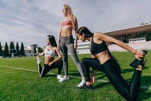 Women train together