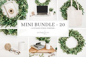Greenery Wreath Mini Photo Bundle 20