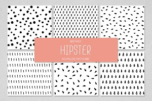 6 HIPSTER seamless patterns