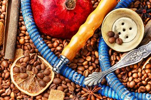 Modern hookah with coffee aroma