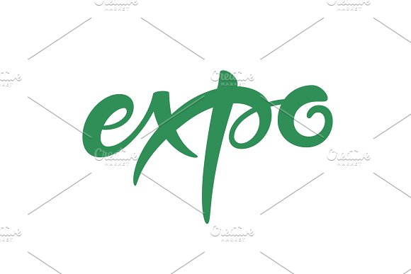 Expo Text Vector Lettering
