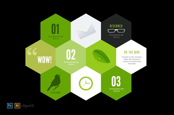 Infographics design template ~ Illustrations ~ Creative Market