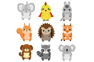 Cute animals. set 3