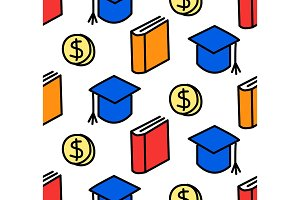 Seamless education loan background.