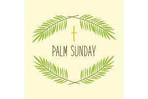 Palm Sunday banner as religious holidays symbols